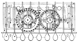 patent drawing Schwilgue calculator